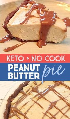 Rich & creamy no cook keto chocolate peanut butter pie! Its also gluten and grain free! The post Rich & creamy no cook keto chocolate peanut butter pie! Its also gluten and gra appeared first on Dessert Park. No Cook Desserts, Low Carb Desserts, Easy Desserts, Low Carb Recipes, Yummy Recipes, Dessert Recipes, Snack Recipes, Dinner Recipes, Keto Snacks