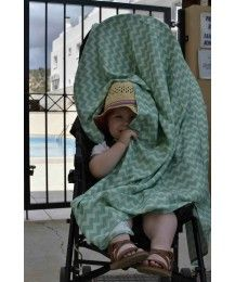 """A multipurpose wrapmeup blanket made from 100% bamboo fabric of the highest quality.  Due to the unique properties of bamboo, the """"Mist"""" by La Millou has a wide range of applications:  - to wrap up small babies in a """"cocoon"""" so that they feel safe, calm down and sleep better   – due to its properties, bamboo fabric in hot weather keeps a temperature lower by 2 degrees from the ambient temperature  - to protect the pram from the sun by absorbing UV and thus prevent sunstrokes, skin cancer Bamboo Blanket, Breastfeeding Pillow, Sleep Better, Small Baby, Cancer, Weather, Colours, Sun, Quilts"""