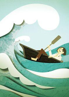 Treasure Island by Robert Louis Stevenson illustration.
