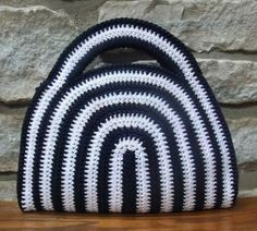 Crocheted bag handbag purse sh