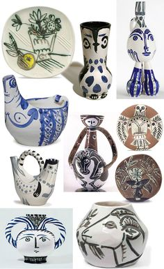 Pablo Picasso's loved Pottery too Pablo Picasso, Kunst Picasso, Art Picasso, Picasso Images, Ceramic Clay, Ceramic Pottery, Pottery Art, Slab Pottery, Ceramic Bowls