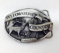 Vintage 1985 Yellowstone National Park Belt Buckle Siskiyou Buckle Company | eBay