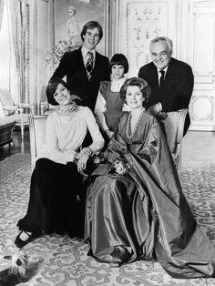 Prince Rainier III of Monaco, Princess Grace and their children Prince Albert, Princess Caroline (L) and Princess Stephanie (C) in Monte Carlo, 1976