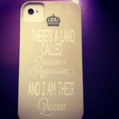 """Addison Montgomery"" phone case :) queen of passive aggressiva"