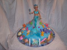Mermaid Cake My Grand Daughter Wanted A Mermaidia For Her  cakepins.com