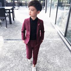 Best Price for Kids Blazer Baby Boys Suit Jackets 2018 Spring Cotton Coat Pants 2 Piece Boy Suits Formal For Wedding Chlidren Clothing Boys Prom Suits, Boys Wedding Suits, Black Suit Wedding, Boys Formal Suits, Kids Suits, Kids Formal Wear, Formal Pants, Baby Boy Suit, Baby Boy Dress