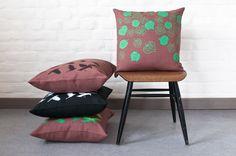 Lehmus (Tilia) and Naakka (Jackdaw) pillows .