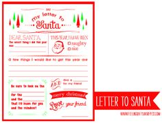 LetterToSanta-Title-I'mFeelin'Crafty - free printable