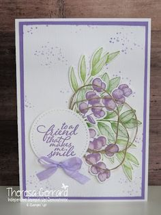 TeeGee Inspirations: Art With Heart Colour Creations Showcase : Highland Heather Embossing Folder, Ferns, Stampin Up Cards, Cardmaking, Whale, Stamping, Card Ideas, Birthday Cards, Friendship