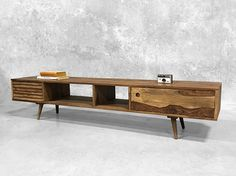 Wooden Scandi Entertainment Unit