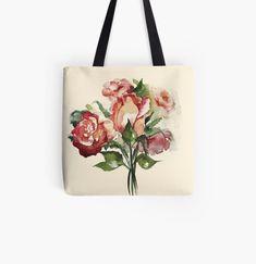 """Rosenstrauß"" von Mojart   Redbubble Vintage Designs, Ted Baker, Art Prints, Tote Bag, Bags, Accessories, Shop, Fashion, Laptop Tote"