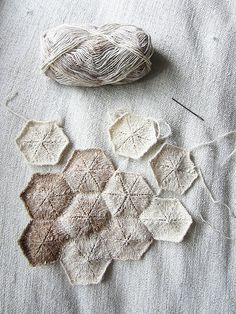"ravelry. If I had the patience to knit, I'd make a blanket of these for a beach cottage. If it had a beach cottage. There are a lot of ""if's"" here. I don't think this DIY is in my future. But I like it."