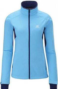 Salomon Women's Active Softshell Jacket W,Score Blue/Wizard Violet,US M. Origin: Imported. Fit: True to Size. Features of this item include: Skiing #Sports #OUTDOOR_RECREATION_PRODUCT