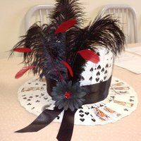 Party top-hat made of playing cards diy hat, mad tea parties, casino Casino Night Party, Casino Theme Parties, Party Themes, Vegas Party, Tea Parties, Party Ideas, Party Party, Parties Kids, Themed Parties