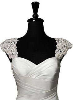 Dobelove Romantic Beaded Detachable Cap Sleeve Lace Wedding Dress Bolero Jacket Dobelove http://www.amazon.com/dp/B00Y9T9H5C/ref=cm_sw_r_pi_dp_zBD4vb1EQAVDK