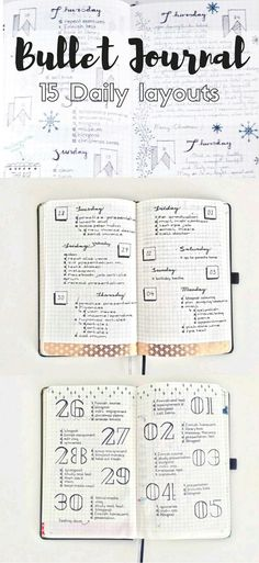 beautiful inspiration for bullet journal layouts