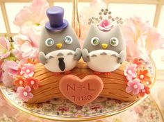 Cute owl wedding topper