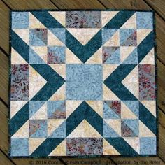 Today I have a tutorial for a beautiful table topper made with Island Batik Crystal Cove batik fabrics and the AccuQuilt GO! Qube to share with you Quilt Block Patterns, Pattern Blocks, Quilt Blocks, Small Quilts, Easy Quilts, Kid Quilts, Quilting Projects, Quilting Designs, Quilting Ideas