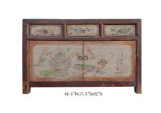 Mongolian Antique Hand Painted Buffet Table Tv Stand Cabinet Awk2123 by A Mid Cabinet, http://www.amazon.com/dp/B004WLVVCE/ref=cm_sw_r_pi_dp_1q7ksb1VRVZF7