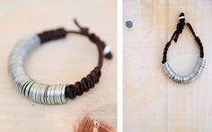 DIY washer bracelet similar to an Anthropolgie one
