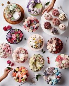 "1,628 Likes, 25 Comments - nanacake (since 2009) (@nana_cake) on Instagram: ""Buttercreamflowercake _ _ #nanacake #nanabook #flowercake #buttercreamflowercake…"""