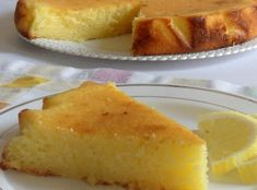 WW Lemon and Ricotta Ultra Light Cake Dish and Recipe Desserts With Biscuits, Ww Desserts, Vegan Dessert Recipes, Chocolate Fruit Cake, Chocolate Recipes, Fruit Cake Design, Chorizo Recipes, Happy Vegan, Light Cakes