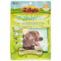 ZBones Natural GrainFree Apple Dental Chew For 2560lb Dogs Pack of 2 16 Chews Total ** More info could be found at the image url.