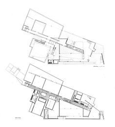 alvaro siza / centro galego de arte contemporânea #arquitectura #dibujos #plantas #museos #Alvaro siza