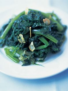 This is a really simple and tasty way to make greens less boring. Also, having a mixture of greens makes things much more appealing. I've used three types of greens, including rocket, which is always thought of as a salad leaf. Chicory is a slightly bitter-tasting green leaf which is excellent for braising. If you can't get hold of it then try substituting with any other type of green, like spinach, cabbage, cavolo nero, Chinese leaf, beet leaves, sprouting broccoli – whatever you fancy.