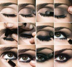 Tuto Maquillage. [1] Maquiller des yeux marrons foncés.
