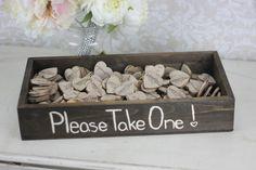 Rustic Wedding Favors Wood Heart Magnets Inside Rustic Box SET of 200 (item S10445). $299.00, via Etsy.  FOR SARA