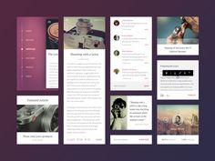 mobile blog template