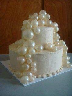 Wedding Cake with Gelatin Bubbles
