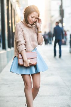 + Chunky knit/ structured skirt