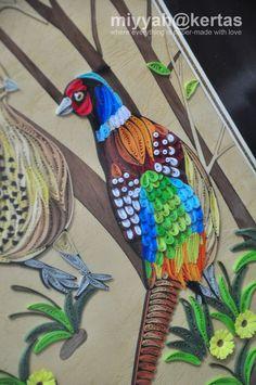 Quilling Bird/ pheasant(?)  Vietnamese Quilling