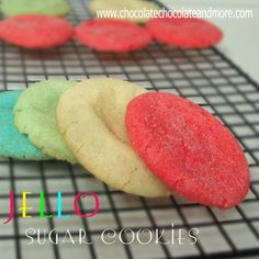 Jello Sugar Cookies-using Jello for flavor, the possibilities are endless!