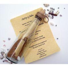 Message in a Bottle Wedding Invitation Ideas