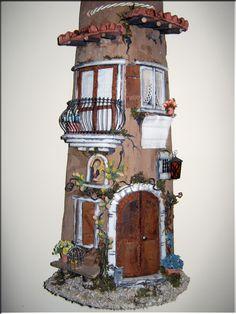 Antonella Benedetti: oggetti artigianali Clay Flower Pots, Roof Tiles, House Roof, Bird Feeders, Needle Felting, Terracotta, Brick, Ceramics, Outdoor Decor