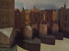 A model of Old London Bridge around 1440 at the Museum in Docklands.