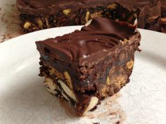 This blow-your-socks-off chocolate tiffin recipe is from the inside of a Green & Black's wrapper. Stand back...