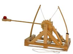 Leonardo da Vinci Catapult Kit  Put together your own Leonardo da Vinci Catapult Kit and start shooting spitballs at your co-workers from across the room.