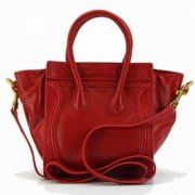 Celine Boston Big Red Leather Bags