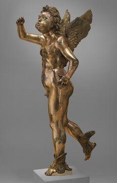 Donatello-Fountain Figure of a Winged Infant [Italian (Florence)] Italian Renaissance, Renaissance Art, Florence, Italian Sculptors, Equestrian Statue, Louvre, Bronze, Art For Art Sake, Expo