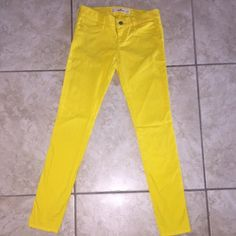Hollister jeans Yellow jeans. Willing to negotiate Hollister Pants