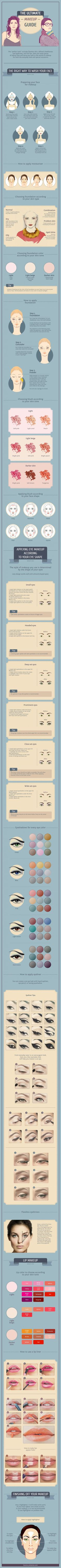 Step-by-step instructions to help you attain an absolutely flawless look. #eyemakeupstepbystep