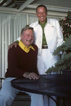 Duke''s wives photo gallery   John Wayne and Frank Sinatra