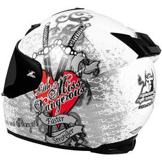 Speed and Strength SS1000 - Little Miss Dangerous Graphic Helmets - Back View (just bought this and love it!)