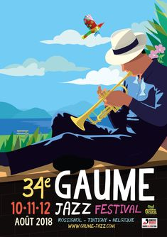 Poster contest for the edition of the Gaume Jazz Festival in Belgium, by Antoine Walraevens. Festival Jazz, Festival Posters, Jazz Poster, Soul Jazz, Jazz Blues, Poster Making, Visual Communication, Good Music, Album Covers
