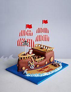 how to make a pirate ship birthday cake