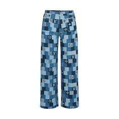 Products by Louis Vuitton: Denim Monogram Check Trousers Ropa Louis Vuitton, Louis Vuitton Monogram, Louis Vuitton Australia, Checked Trousers, Fashion Joggers, Looks Chic, Denim Outfit, Skinny, Casual Chic